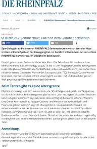 2019-07-25 RHEINPFALZ-Sommertour Tanzend dem Sommer entfliehen