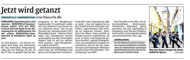 Rheinpfalz 26.07.2019