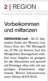 Wormser Wochenblatt 19.09.2019