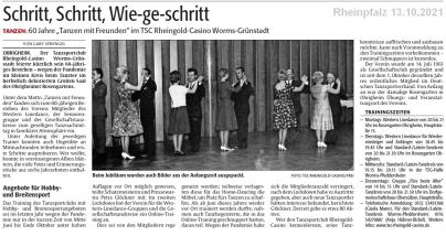 Rheinpfalz 13.10.2021